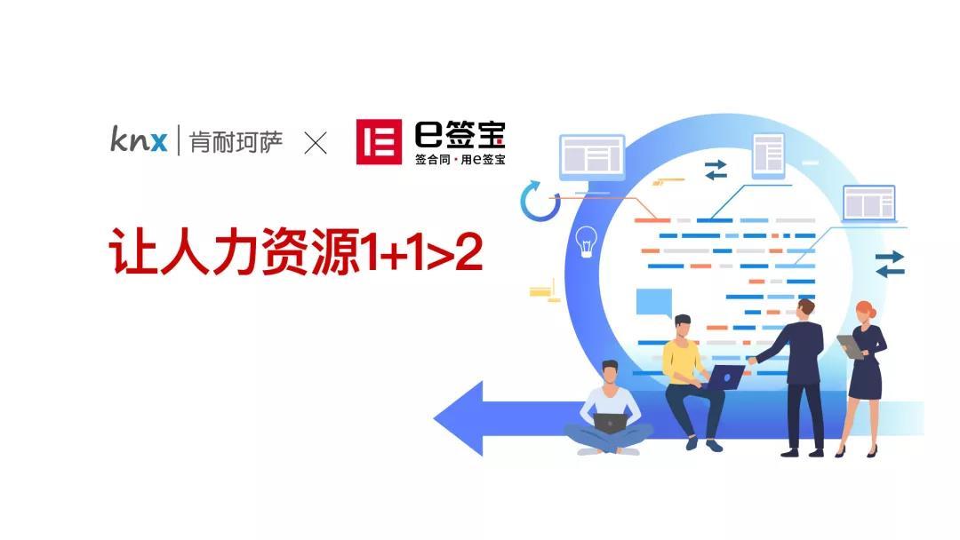 e签宝与肯耐珂萨达成重要合作,助力中国人力资源数字化转型